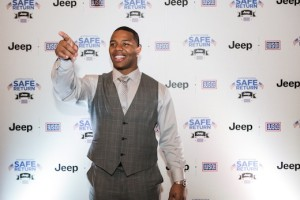 Jeep & USO Launch Operation SAFE Return With Ray Rice And Olivia Munn